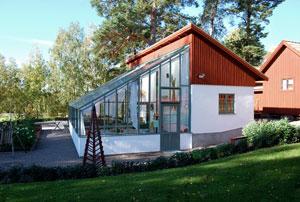 En av de vinterträdgårdar som Sweden Green House designat