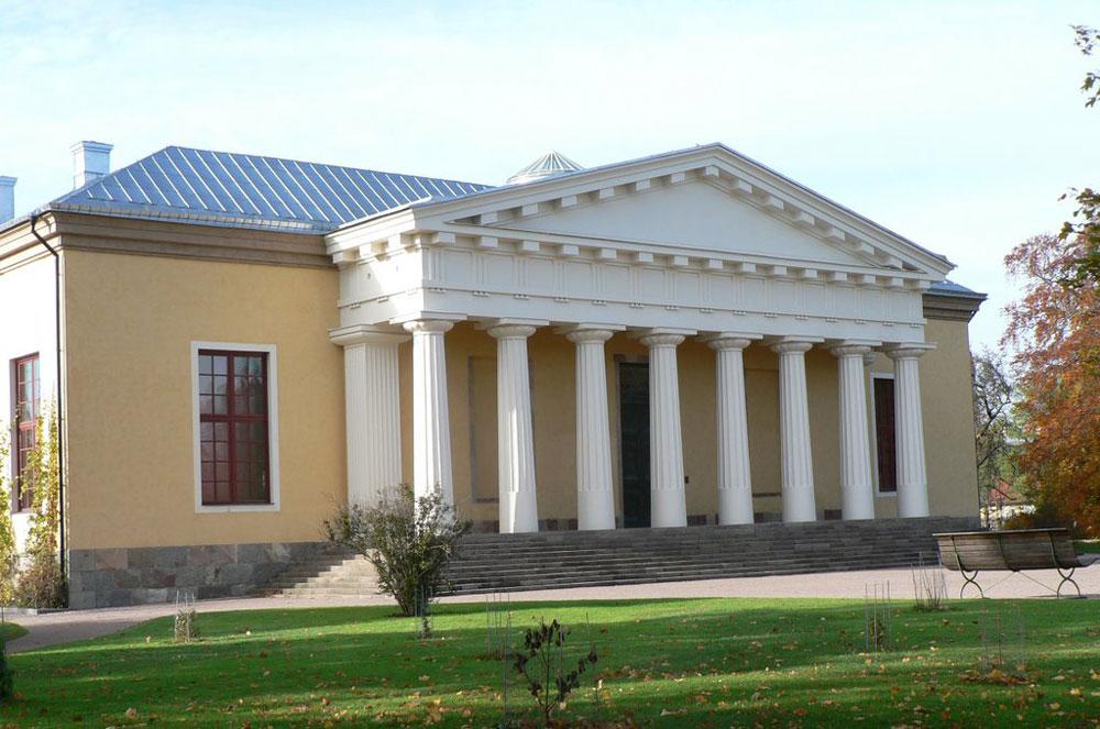Det gula orangeriet I Uppsala Botaniksa trädgård anlagt av Olof Rudbeck