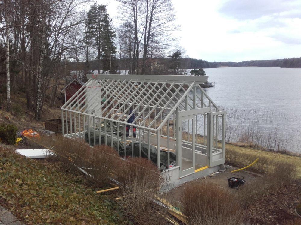 Växthusbygge hos Victoria Skoglund från Zetas