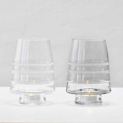 Gran 150 är glasbeehållaren som är användbar både som liten vas och som ljuslykta