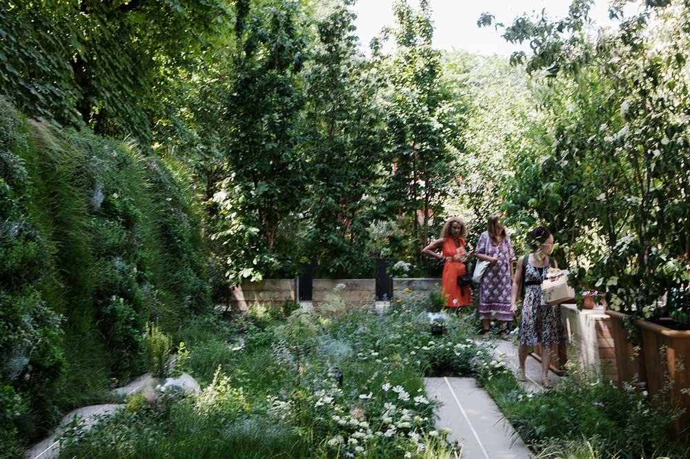 Utomhusdelen i Gally´s monter på den franska mässan Jarfdins jardin gav ett vilt intryck