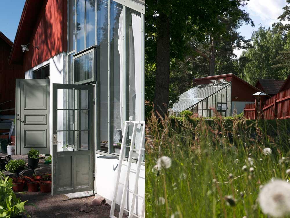 Växthuset på Stabergs bergmansgård har ritats för att passa in i den historiska miljön.