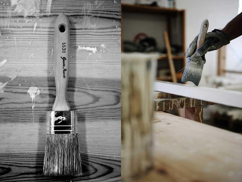 Gnestapenseln är den pensel som Sweden Green House använder när vi målar våra växthus.