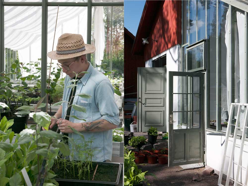 I trädgårdsmästeriet finns det växthus som Sweden Green House byggt i barockträdgården.