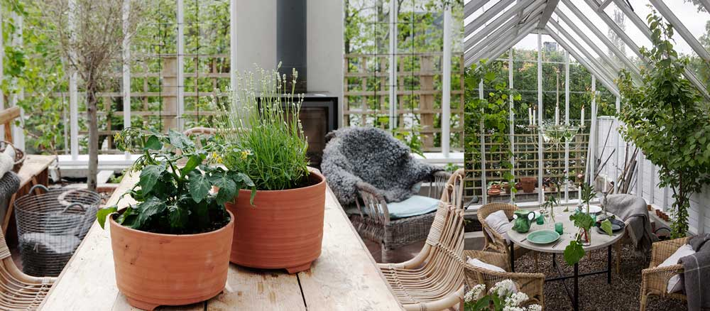 Ett växthus förlänger säsongen samtidigt som det blir ett utrymme för odling, socialt liv och för att utöva en hobby.