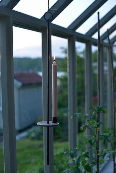 Stearinljus i växthuset