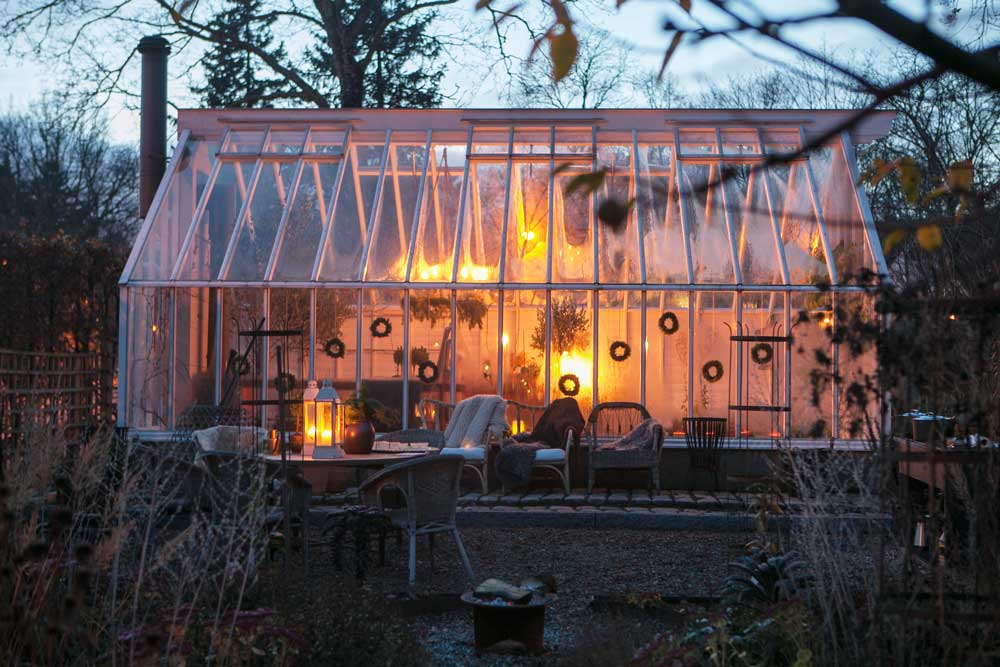 Stämningen i växthuset är på topp efter besökte av alla trevliga odlarvänner.