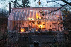 Gott nytt år 2018 från alla oss på Sweden Green House.