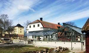 Växthuset som Sweden Green House Byggt intill Löfstad Slott.