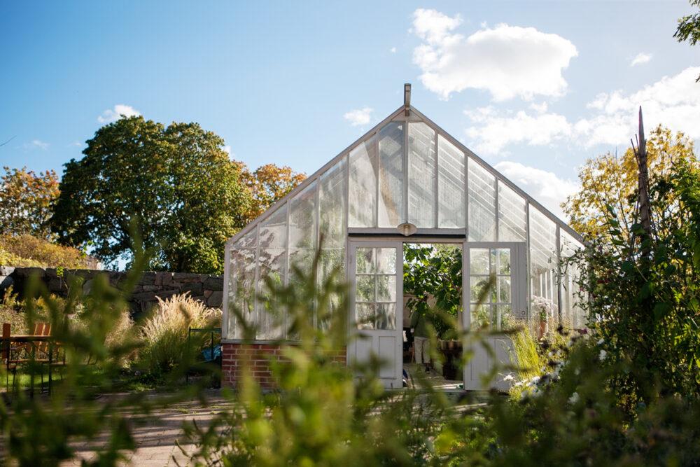 Växthus som är 5,2 meter brett