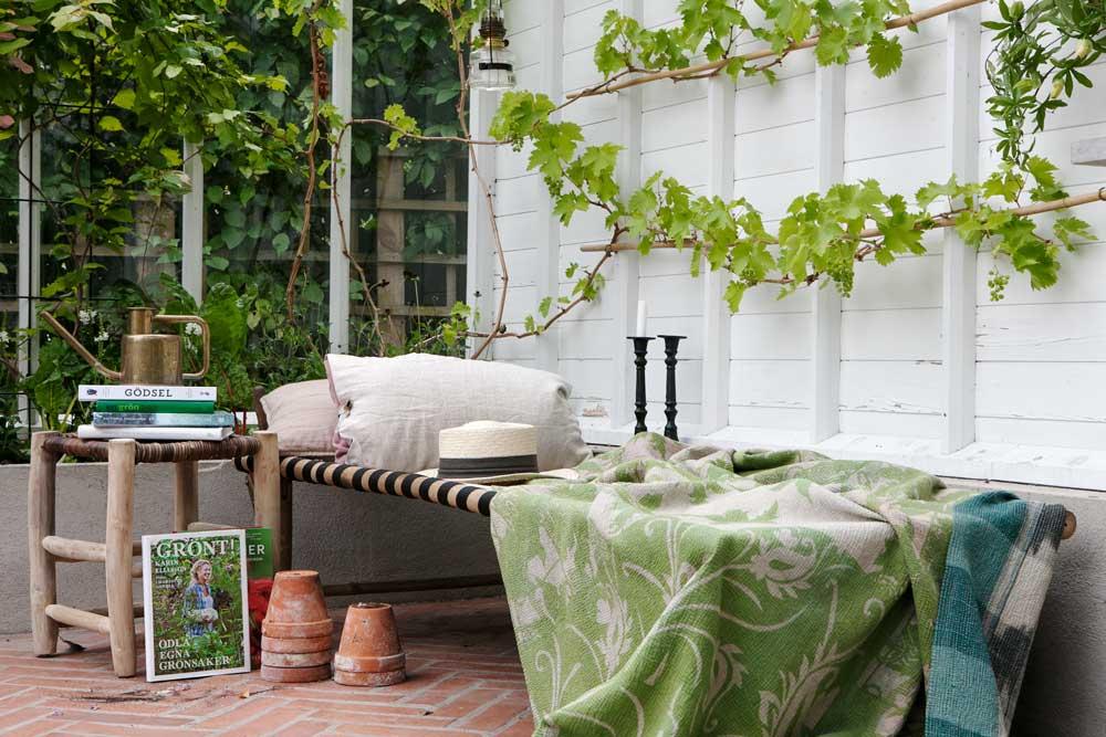 Din egna läshörna i växthuset, så kan du inreda den.