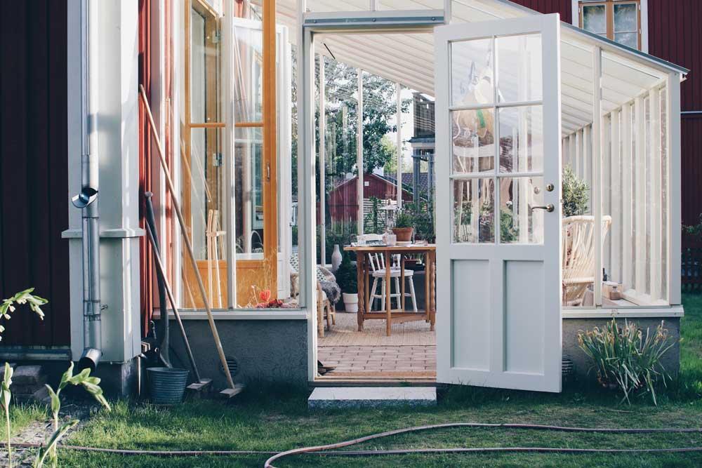 Växthus i åkersberga som Sweden Green House monterade förra året.