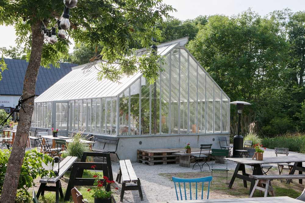 Växthuset vi byggt hos Leva Kungslador i Visby.