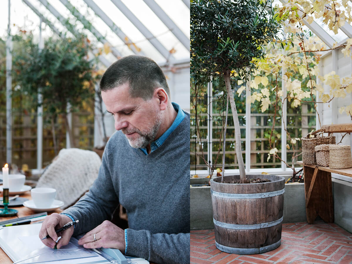 Magnus ritar växthus