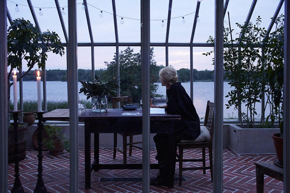 Utsikt över sjön från Attefalls växthuset