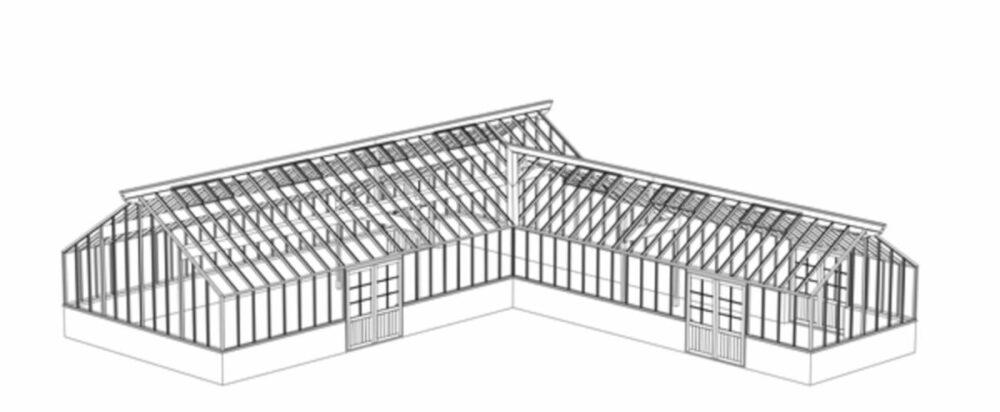 arkitektritat  stort växthus