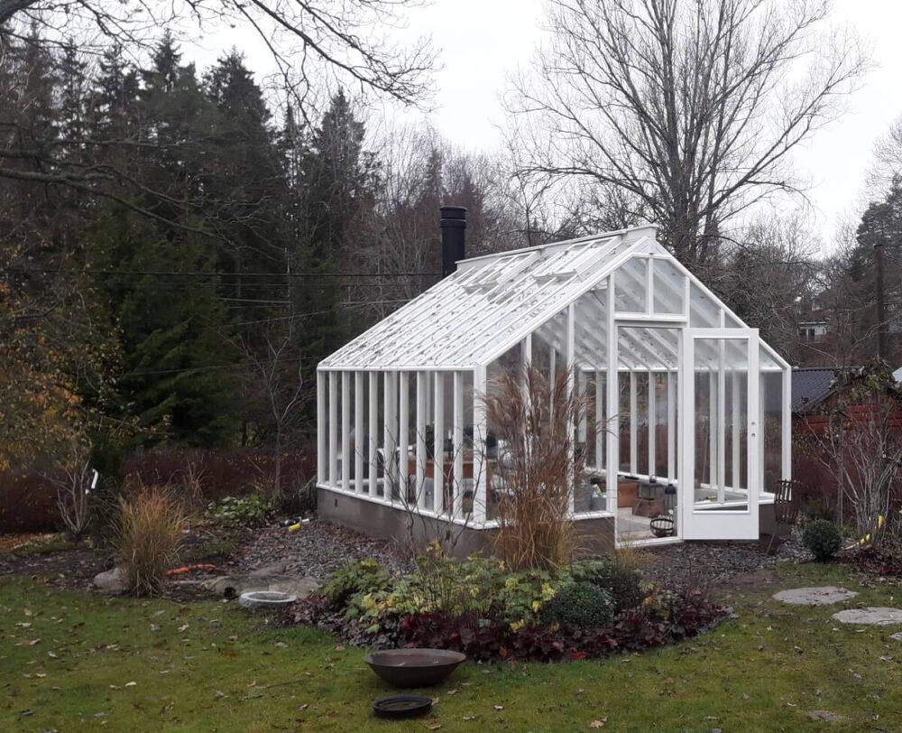 Växthus utan bygglov -vit målat