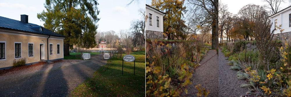 Slottscafét och rabatterna på Stjernsund.