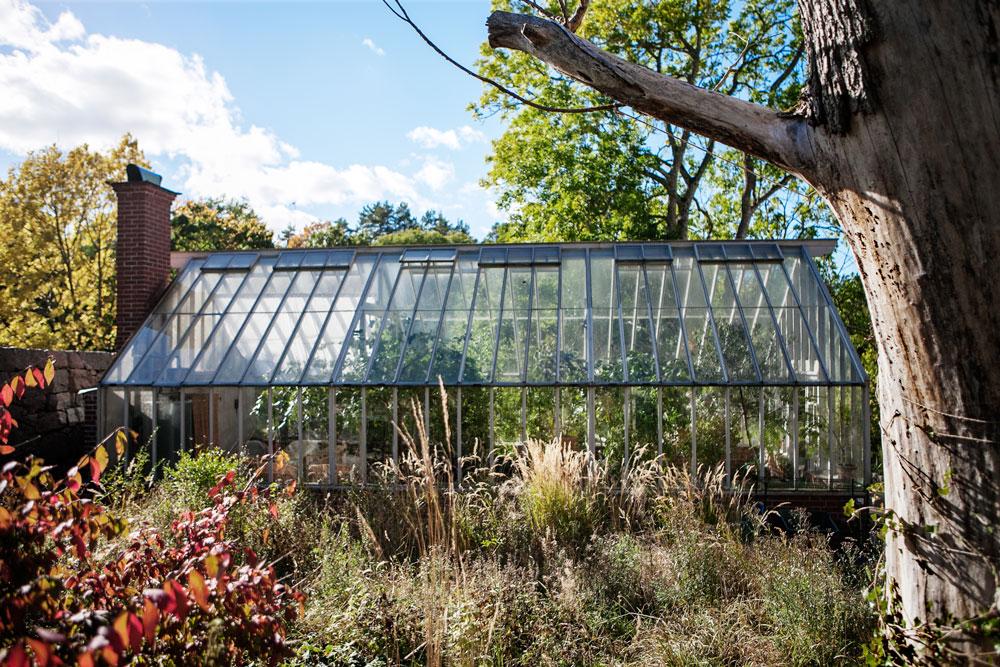 Växthuset vi byggt i trädgården vid Nynäs slott.