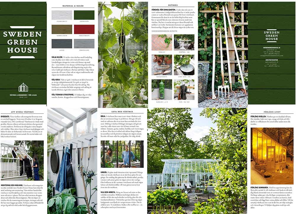 Vår folder som blev klar till Nordiska Trädgårdar.