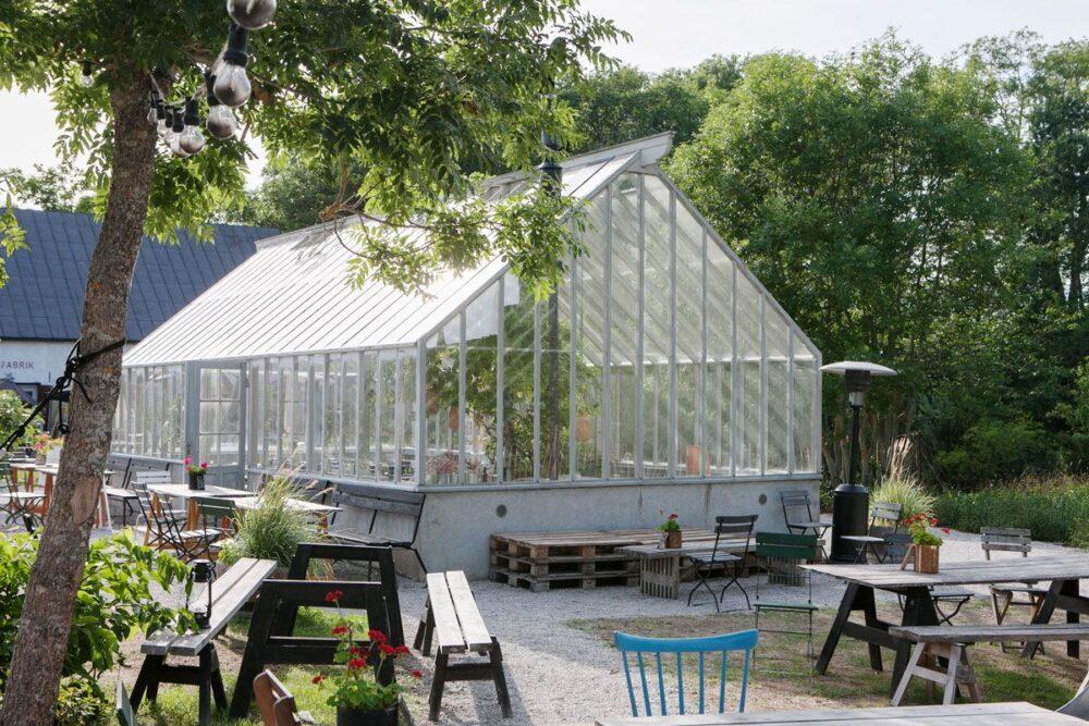 Stort växthus på Gotland.
