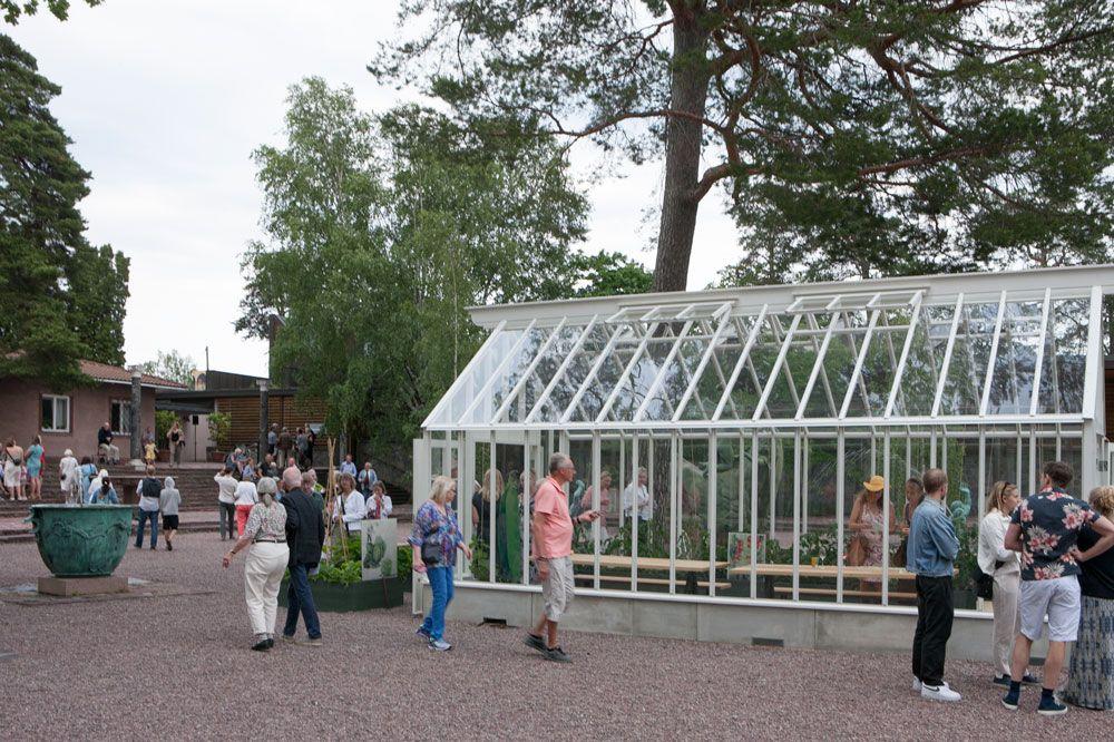 Intresset stort för våra växthus på Millesgården.