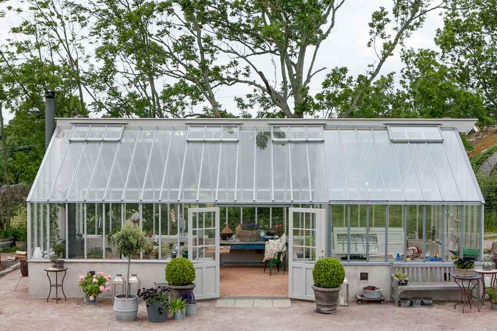 Växthuset som har två olika glas.