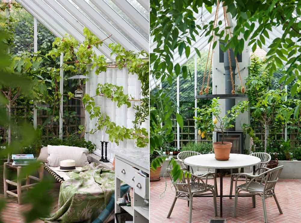 Växthus för vila och umgänge.