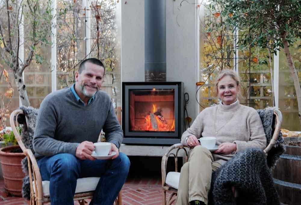 Eva och Magnus som grundat växthusföretaget Sweden Green House.