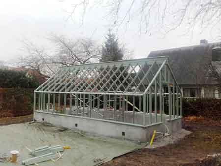 Växthus byggprocess