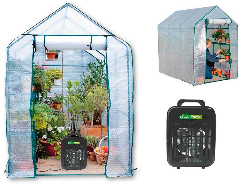Tält för övervintring av växter i växthus.