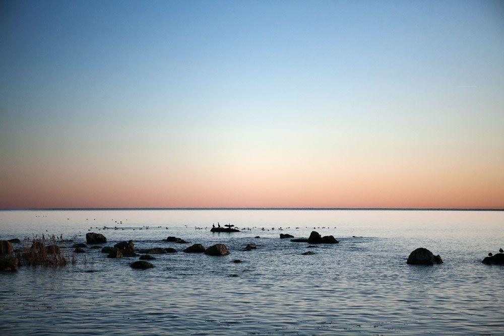 Solnedgång i Åhus.
