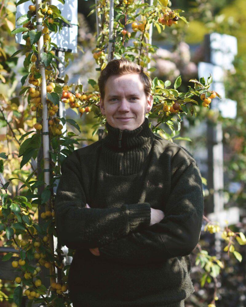 John Block trädgårdsdesigner på Zetas.