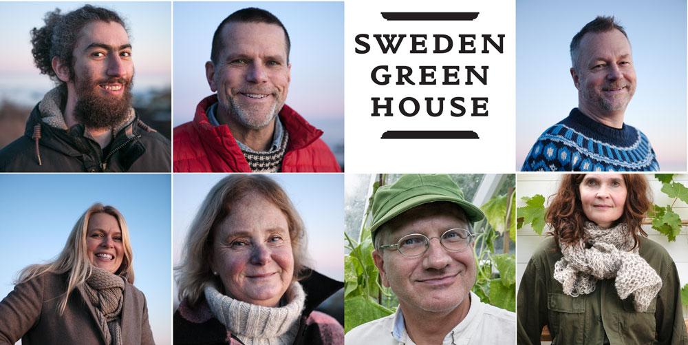 Porträtt på oss som arbetar med växthus i trä och glas.