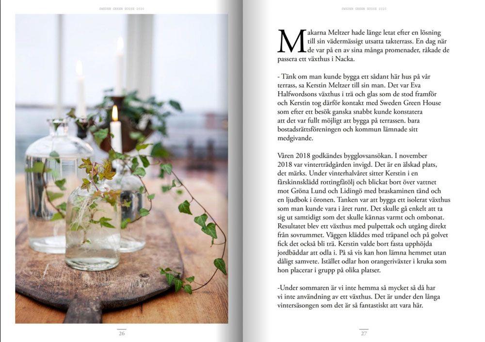 Presentation av ett växthus ur guiden Skapa Stilen.
