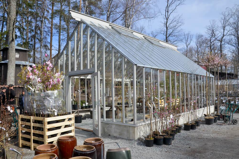 Växthus på Zetas Trädgård