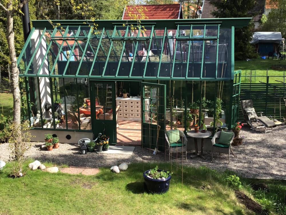 Grönt växthus i Stockholm