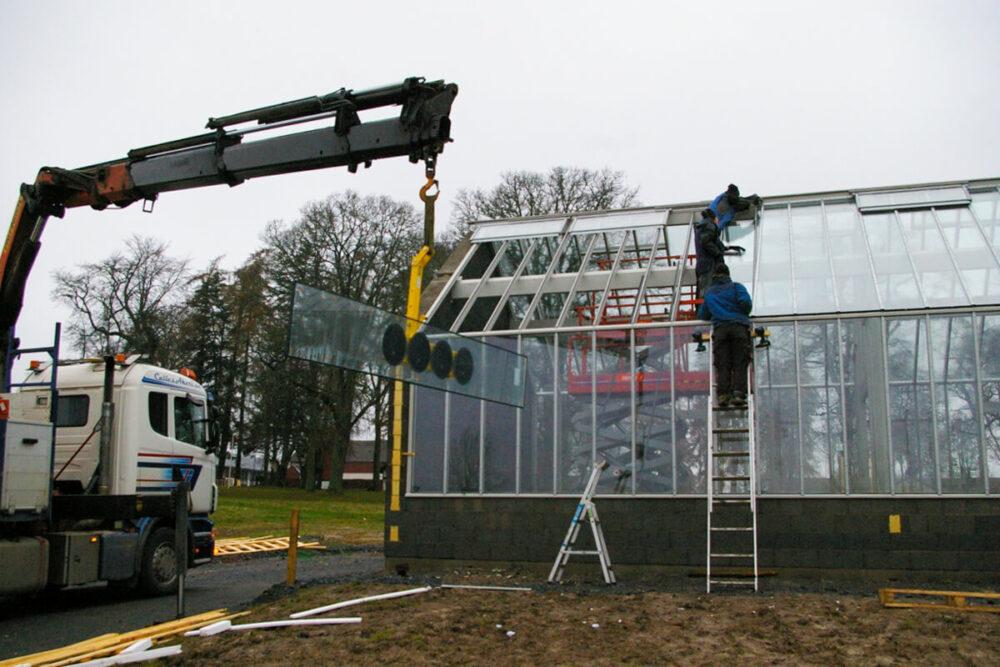 Isolerglas på växthus