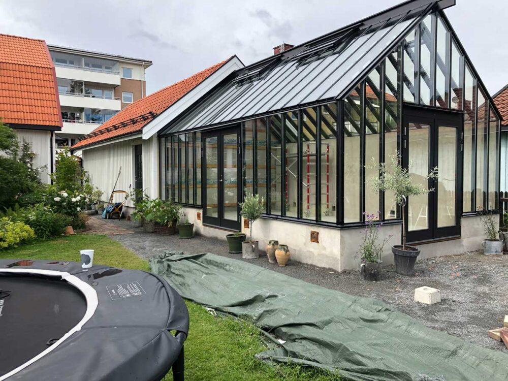 Växthus med isolerglas i Dalarna