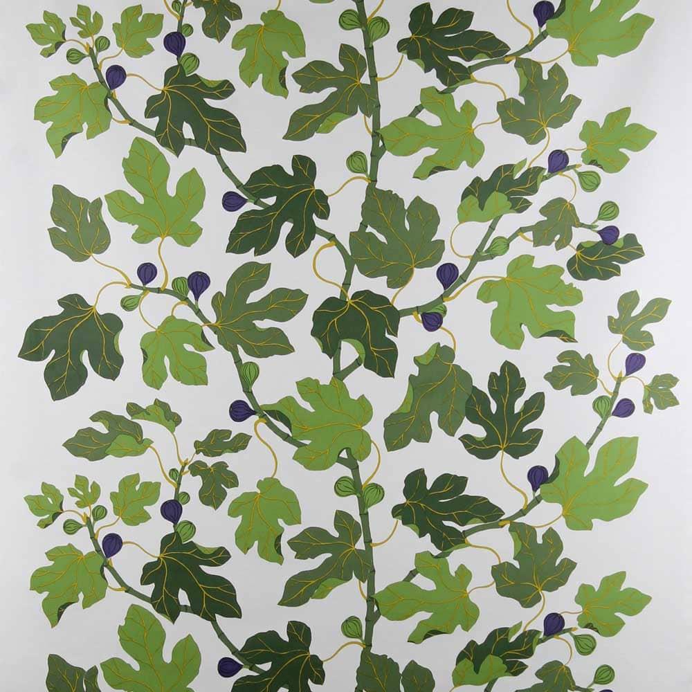 Textilmönster med fikonblad.