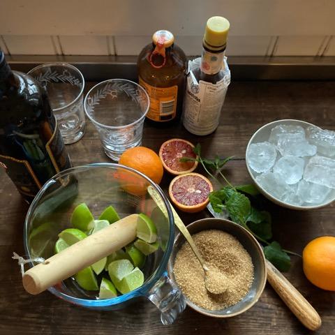 Ingredienser till romdrinken