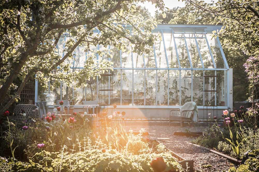 Växthus med sadeltak