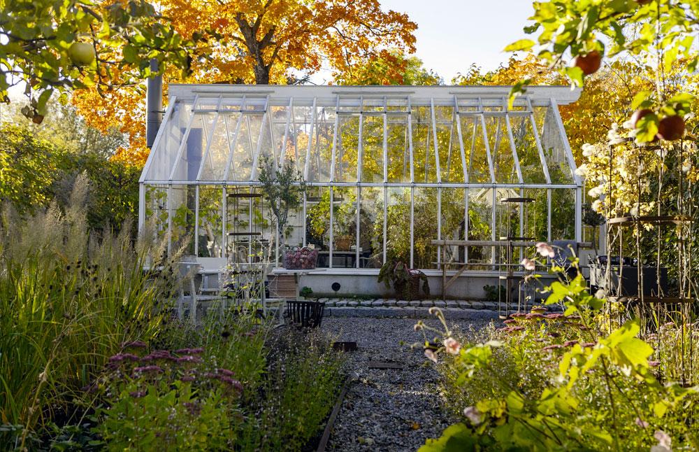 Ett vitt växthus