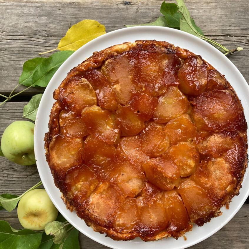 Fransk äppelkaka.